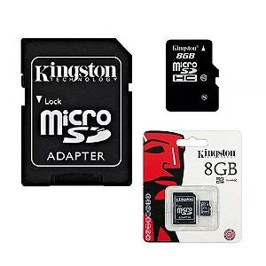 Cartão de memória Kingston 8 GB micro SD micro c/ adaptador