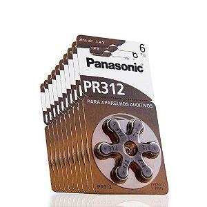 Bateria p/ apaerlhos auditivos PANASONIC PR312 6 UNID.