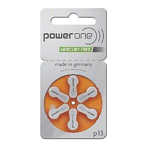Bateria p/ aparelhos auditivos POWERONE P13 6 uni