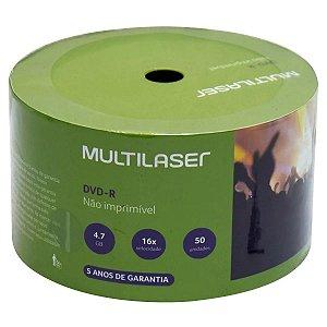 DVD-R Multilaser - Não imprimível - Pino c/ 50 unid
