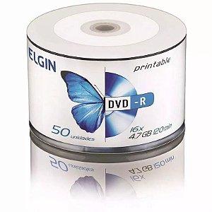 DVD-R Elgin - Printable - Pino c/ 50 unid