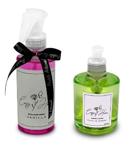 Kit - Água Perfumada Vanilla + Sabonete Líquido Folha de Bamboo