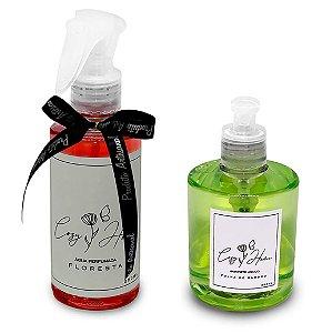 Kit - Água Perfumada Floresta + Sabonete Líquido Folha de Bamboo
