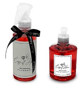 Kit - Água Perfumada Floresta + Sabonete Líquido Flor de Cerejeira