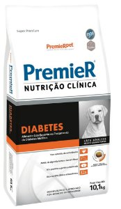 RAÇÃO PREMIER NUTRIÇÃO CLÍNICA DIABETES CÃES RAÇAS MÉDIAS/GRANDES 10,1KG