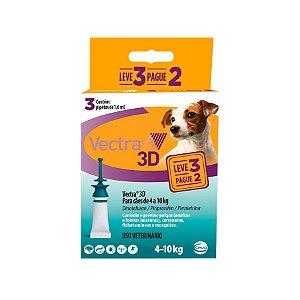 ANTIPULGAS VECTRA 3D CÃES 4 A 10 KG - CAIXA COM 3