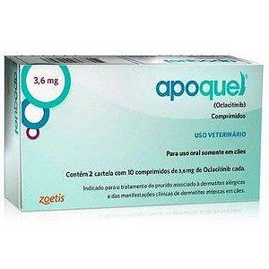 APOQUEL 3.6 MG CAIXA COM 20 COMPRIMIDOS