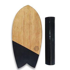 BALANCE BOARD SURF COM TRAVA - VERT BLACK
