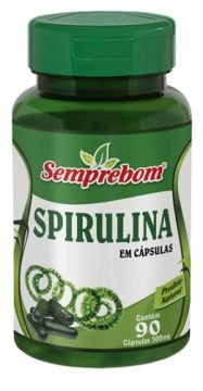 Spirulina 500mg 90 cápsulas