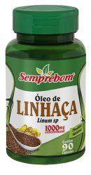 ÓLEO DE LINHAÇA MARROM 1000MG- 90 CAPS