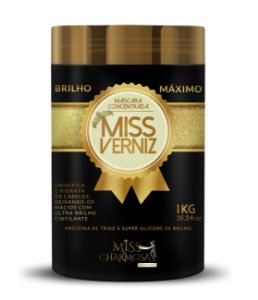 Máscara Hidratação Miss Verniz Brilho Máximo 1kg