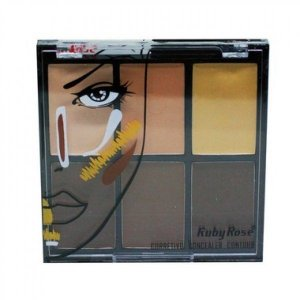Ruby Rose Corretivo Concealer Contour 6 Cores 11.4g HB-8088 - Light