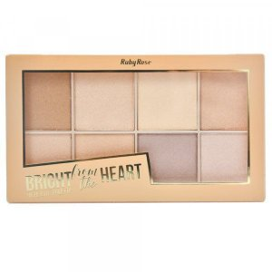 Paleta de Iluminador Bright from the Heart Ruby HB-7516