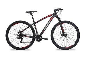 Bicicleta Aro 29 OGGI Hacker Sport 2019 21V Preto/Vermelho