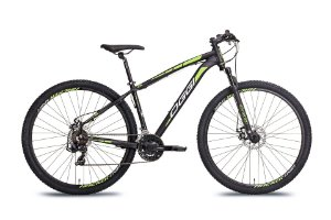 Bicicleta Aro 29 OGGI Hacker Sport 2019 21V Preto/Verde