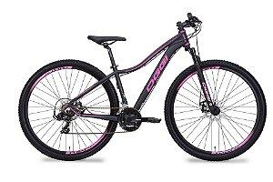Bicicleta Aro 29 OGGI Float Sport 2019 21V Preto/Rosa Feminina