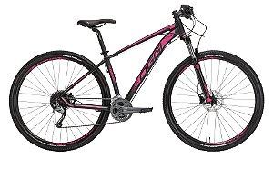 Bicicleta Aro 29 OGGI Big Wheel 7.1 2019 27V Preto/Rosa
