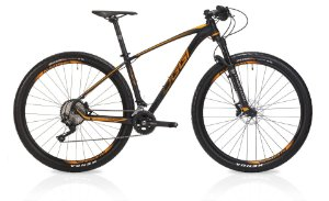 Bicicleta Aro 29 OGGI Big Wheel 7.3 2019 20V Preto/Laranja