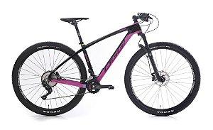 Bicicleta Aro 29 OGGI Agile Sport 2019 20V Carbon Rosa