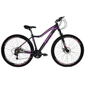 Bicicleta Aro 29 South Schon 2019 21V Preto/Rosa Feminina