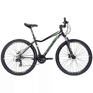 Bicicleta Aro 29 TSW Posh 2019 21V Preto/Verde Feminina