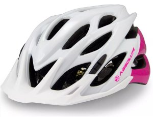Capacete Absolute Mia 52-57cm Branco/Rosa