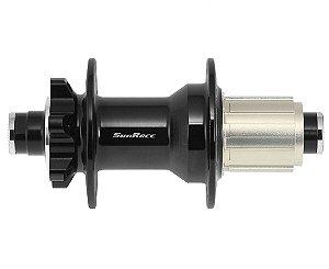 Cubo Traseiro Sunrace MX92 32F 12V Eixo 12mm x 142mm Preto