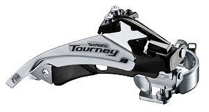 Câmbio Dianteiro Shimano Tourney TY500 42D 3x7/8V Dual Pull