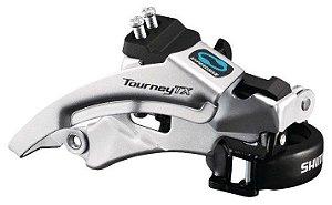 Câmbio Dianteiro Shimano Tourney TX800 42/48D 3x7/8V Dual Pull