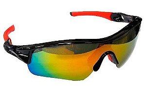 Óculos Ciclista Elleven Mask Preto/vermelho