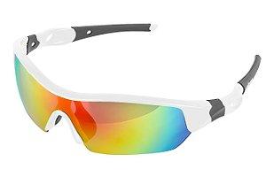 Óculos Ciclista Elleven Spider Branco 2 Lentes