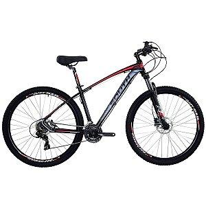 Bicicleta Aro 29 South New R06 2019 24V Preto/Vermelho