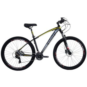 Bicicleta Aro 29 South New R06 2019 24V Preto/Amarelo