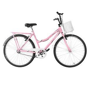 Bicicleta Aro 26 Ultra Vintage Line Rosa/Branco