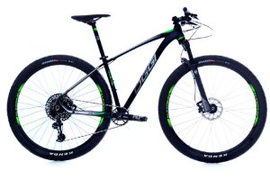 Bicicleta Aro 29 OGGI Big Wheel 7.5 2019 12V Eagle Preto/Verde