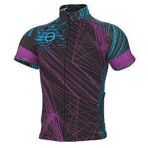 Camisa ERT New Tour Preto/Azul/Roxo
