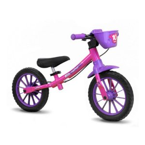 Bicicleta Aro 12 Nathor Balance S/Pedal Rosa
