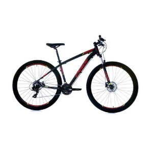 Bicicleta Aro 29 OGGI Hacker Hds 24V Preto/Vermelho