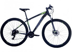 Bicicleta Aro 29 OGGI Hacker Hds 24V Preto/Verde