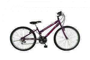 Bicicleta Aro 24 South Bike 18V Violeta Feminina