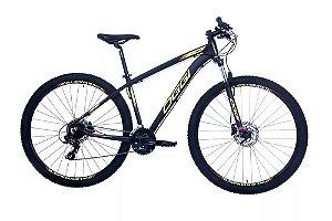 Bicicleta Aro 29 OGGI Hacker Hds 24V Preto/Amarelo