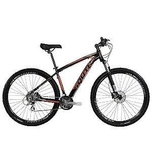 Bicicleta Aro 29 South Legend 2019 21V Preto/Laranja Brilho