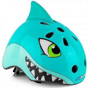 Capacete Infantil Kidzamo Tubarão Azul