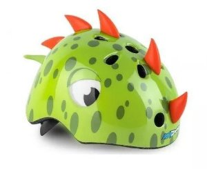 Capacete Infantil Kidzamo Dinossauro Verde