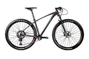 Bicicleta Aro 29 OGGI Big Wheel 7.6 12V Xt Preto/Grafite/Vermelho lançamento 2020