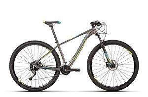 Bicicleta Aro 29 Sense Intensa 18V Cinza/Azul/Amarelo Lançamento 2020