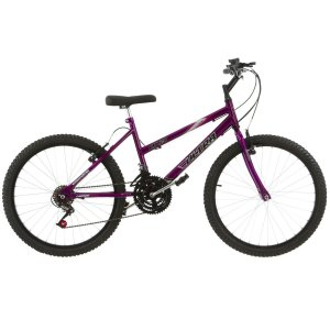 Bicicleta Aro 24 Ultra Power Soft 18V Violeta Feminina