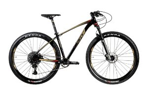 Bicicleta 29 Oggi Big Wheel 7.5 Sram NX 12 Vel. Preto/Dourado/Vermelho Lançamento 2020
