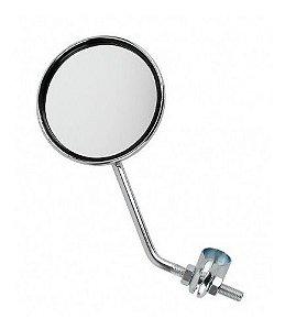 Espelho Retrovisor Aço Cromado Redondo