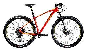 Bicicleta Aro 29 Oggi Big Wheel 7.3 Sram SX 12 Vel. Vermelho/Amarelo Lançamento 2020